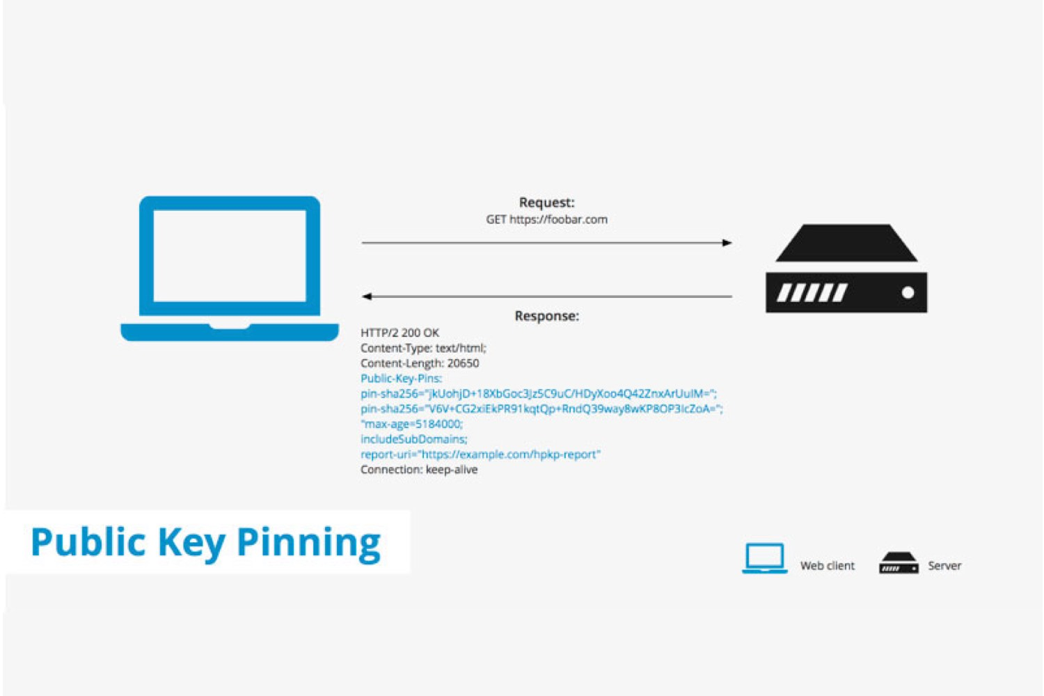 public key pinning google