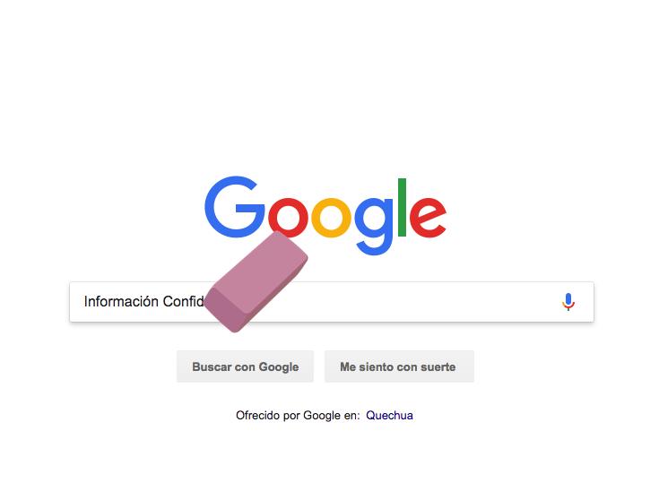 como eliminar informacion de google, derecho al olvido