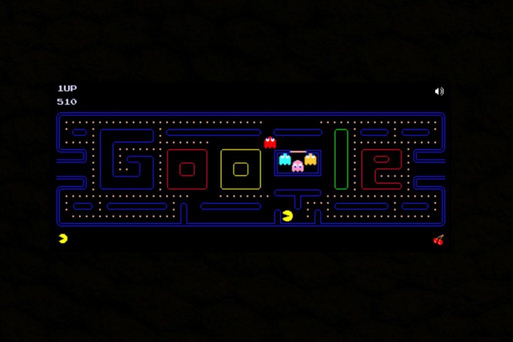 Pacman 30th Anniversary, pacman google, google doodle