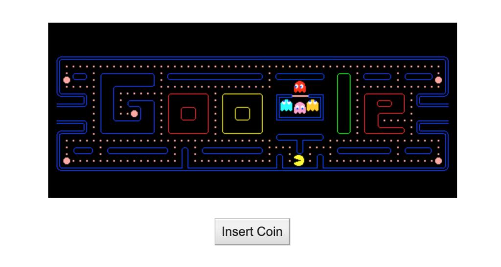 Pacman 30th Anniversary, Pacman Google