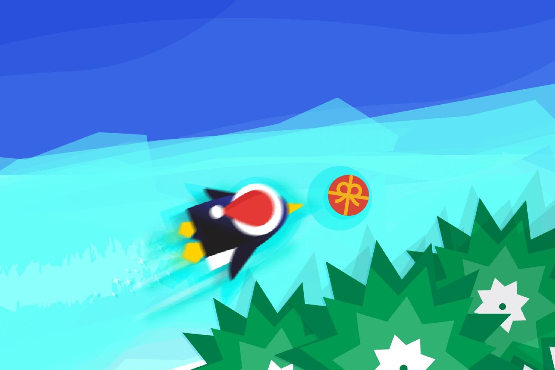 penguin dash, google doodle, pinguino atraparregalos