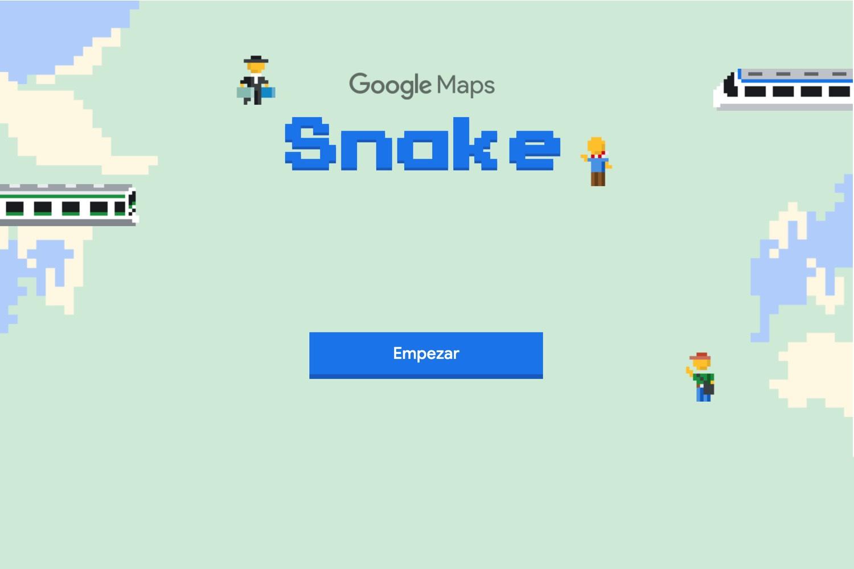 juego de serpientes google maps, snake game