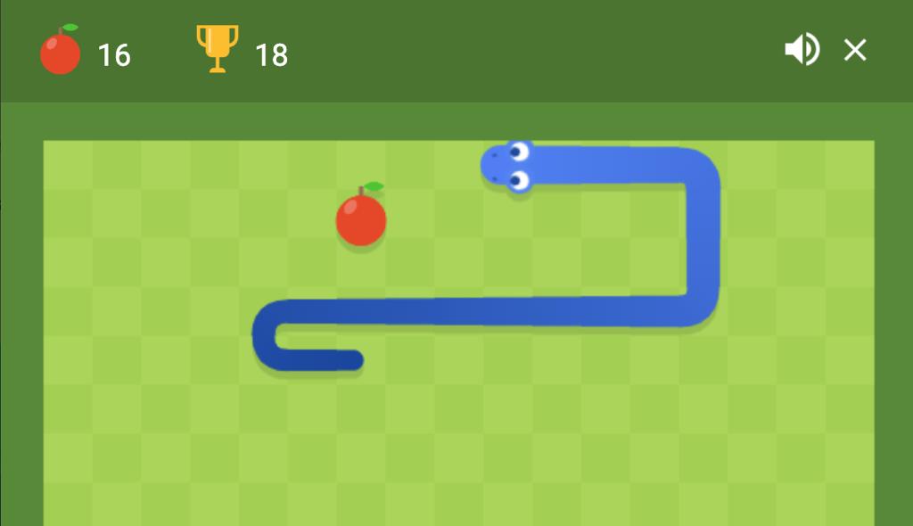 snake game, juego de la serpiente Google