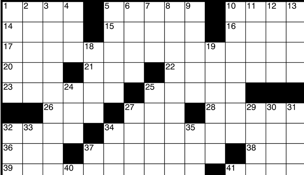 crucigrama tipo americano, crosswords online