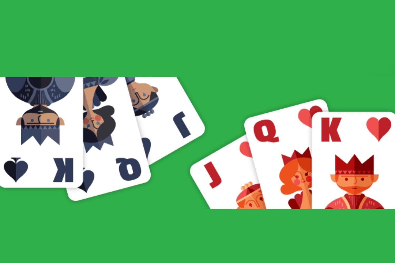 juego solitario, solitario google doodle, solitaire