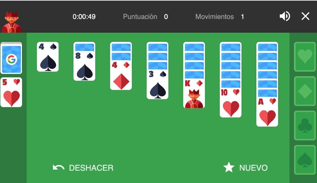 juego solitario, solitario de cartas