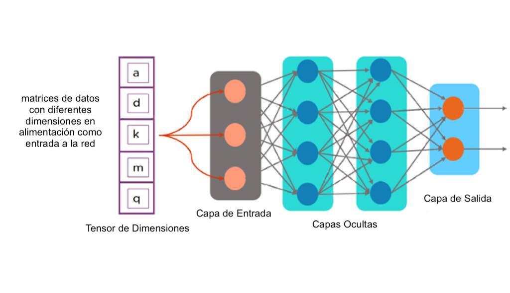 tensorflow, ejemplo de dimensiones