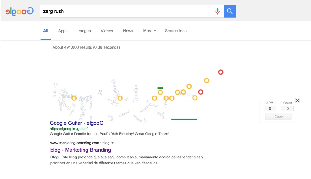 zerg rush, zerg rush google