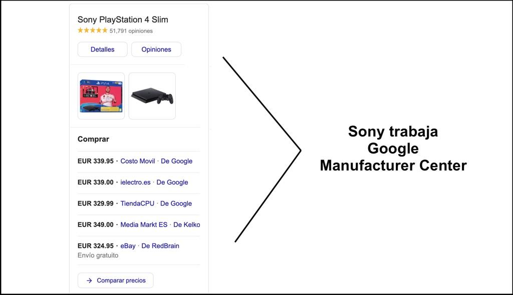 ejemplo google manufacturer center