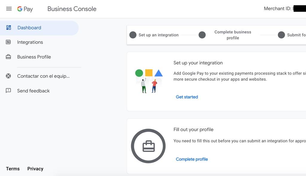 google pay consola, google pay empresas