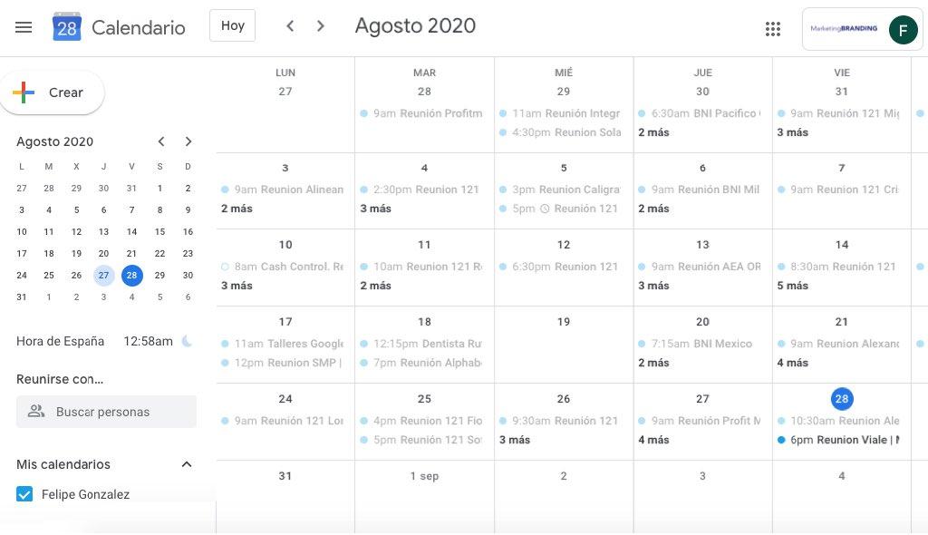 google calendar, google calendar español
