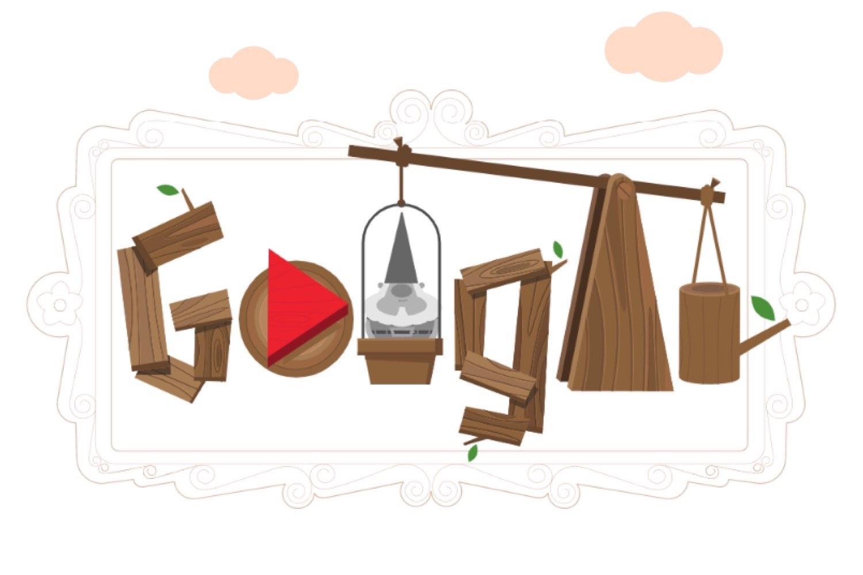 homenaje a los gnomos de jardin, google doodle