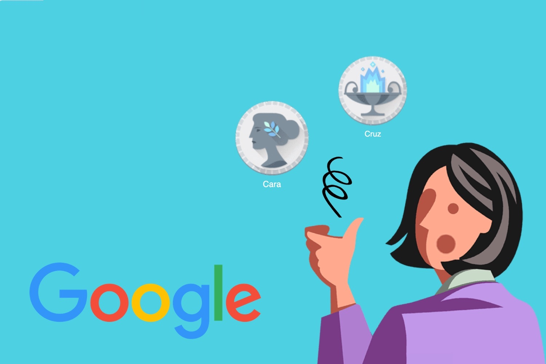 cara o cruz, toss a coin google doodle