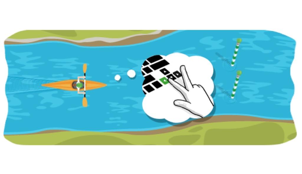 google slalom, jugabilidad google slalom canoe 2012