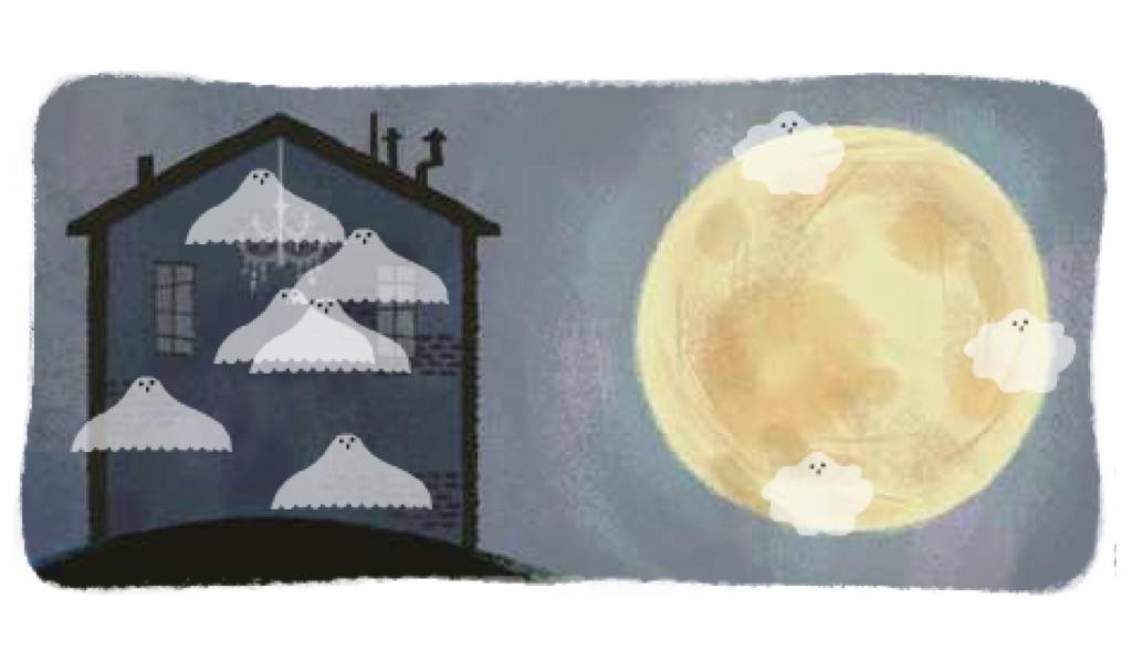 juego halloween google, fantasmas casa embrujada