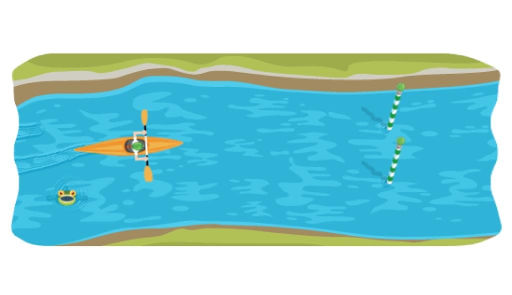 google slalom canoe 2012, jugar google slalom canoe
