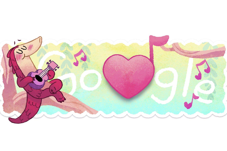 el pangolin enamorado, juego google san valentin