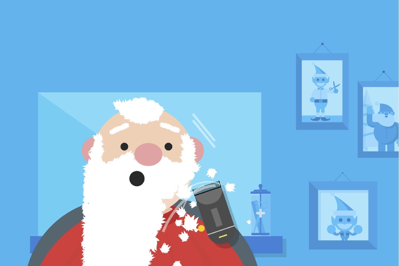 santa selfie, selfie santa cloud