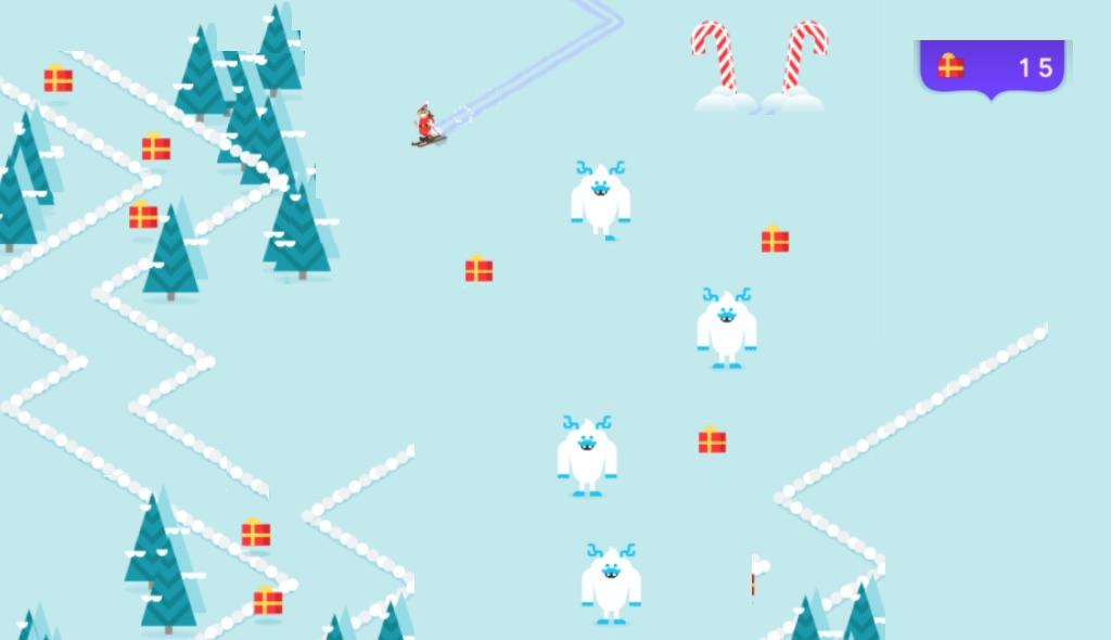 google ski, elf ski, esqui elfico juego