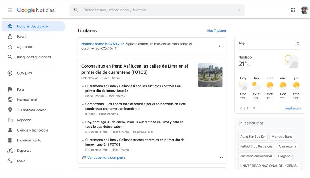 google noticias, portal google noticias