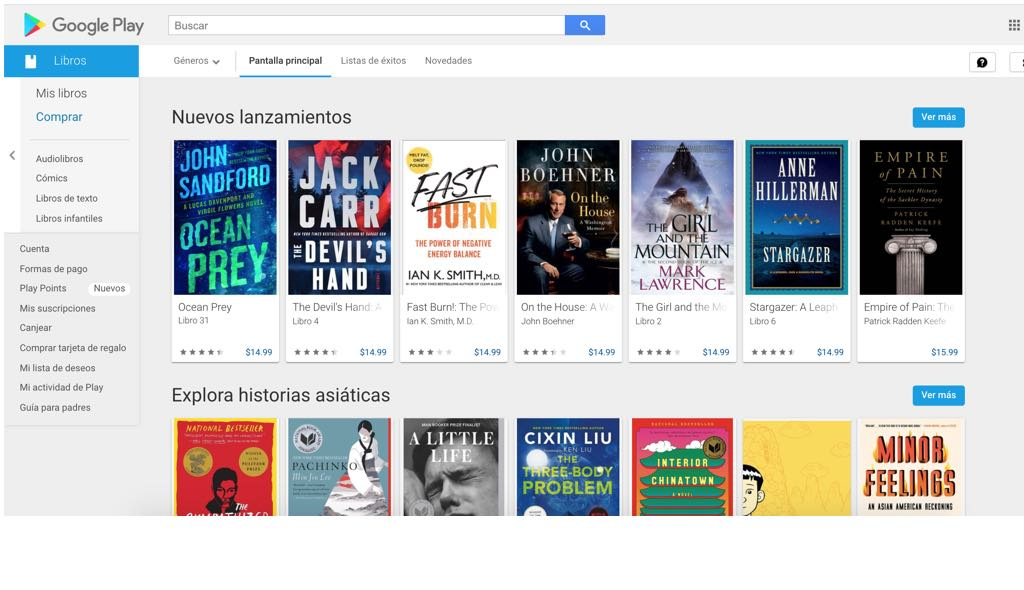 google libros, google play books