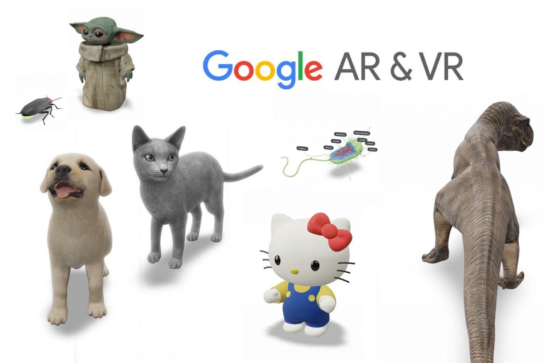 animales en 3d, google realidad aumentada