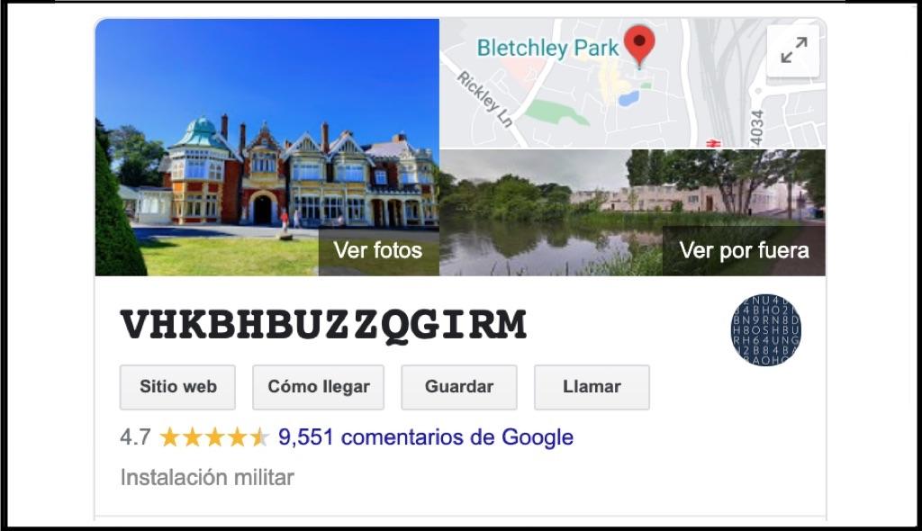 Bletchley Park, Bletchley Park google