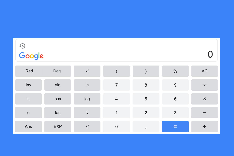 calculadora cientifica google, calculadora google